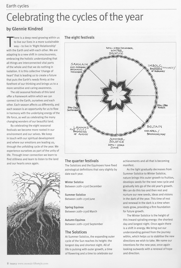 Celebrating the Wheel of the Year | Articles | Glennie Kindred